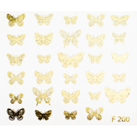 Butterflies gold (F200)