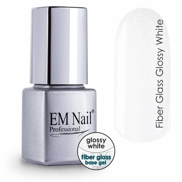 Base Gel with Vitamins - Fiber Glass Glossy White
