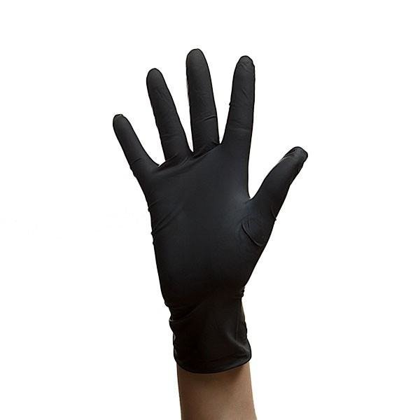 Latex Gloves Powder-free 100 pcs - black