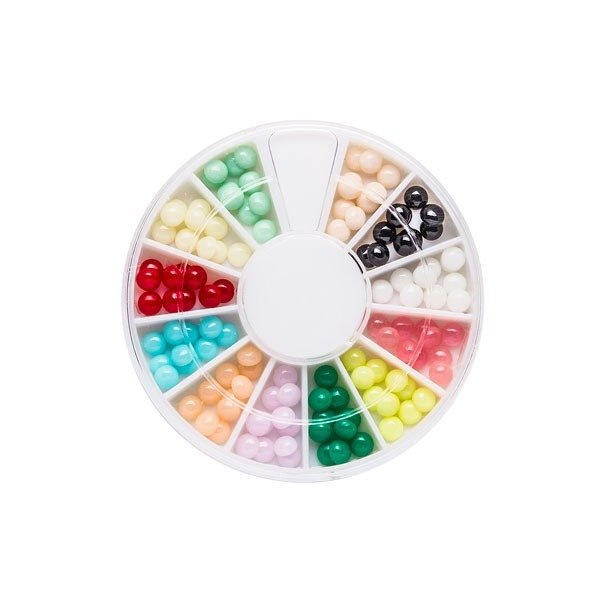 Nail Art ornaments multicolored 4mm round