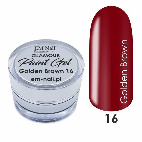 Paint Gel Glamour No. 16 Golden Brown