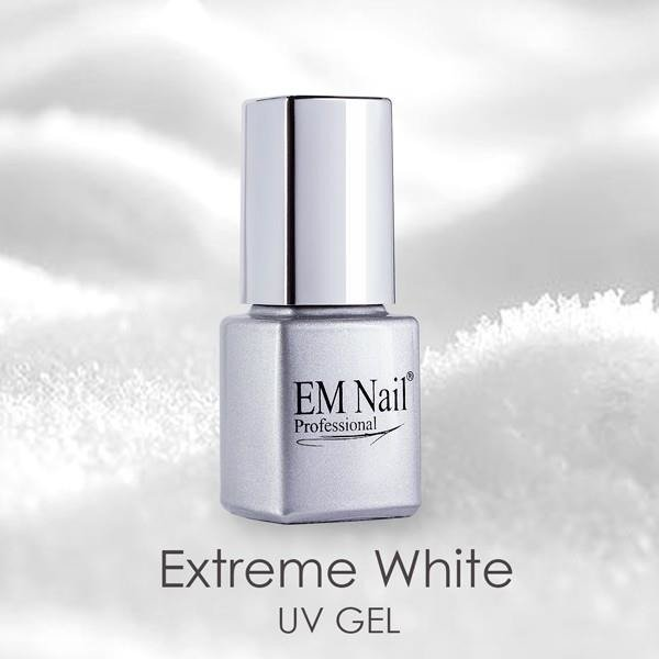 UV Gel French - extreme white with brush