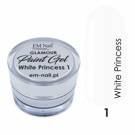 Paint Gel Glamour No. 1 White Princess