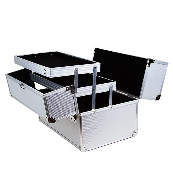 beauty case silber zubeh r beauty case koffer em nail professional. Black Bedroom Furniture Sets. Home Design Ideas