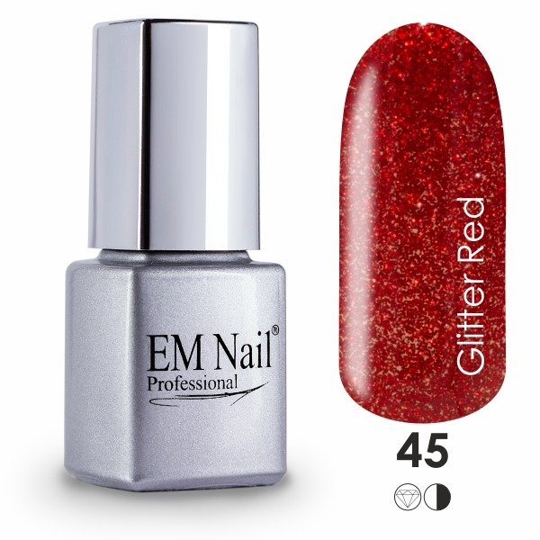 Glitter Red 45 Gel Polish