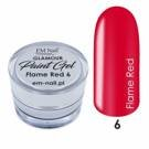 Paint Gel Glamour Nr. 6 Flame Red