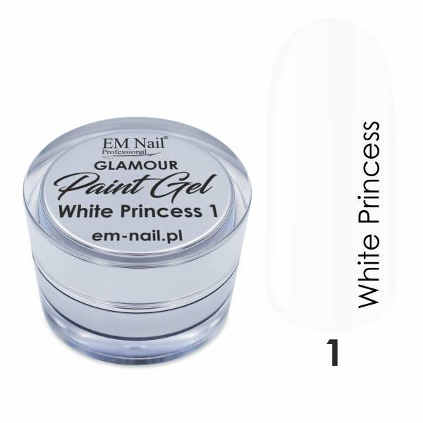 Paint Gel Glamour Nr. 1 White Princess