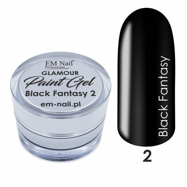 Paint Gel Glamour Nr. 2 Black Fantasy