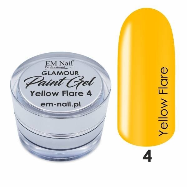 Paint Gel Glamour Nr. 4 Yellow Flare