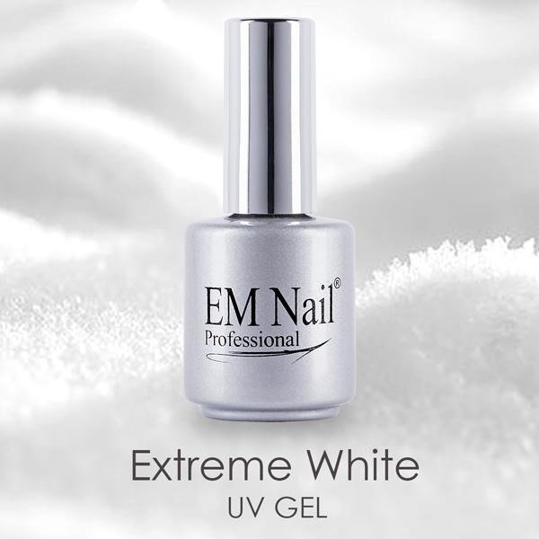 Żel UV french - extreme white z pędzelkiem