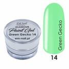Paint Gel Glamour Nr. 14 Green Gecko